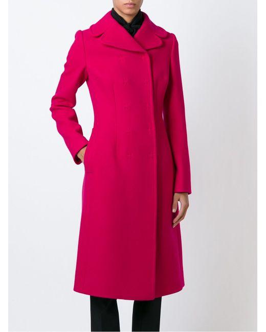 Двубортное Пальто Dolce & Gabbana                                                                                                              розовый цвет
