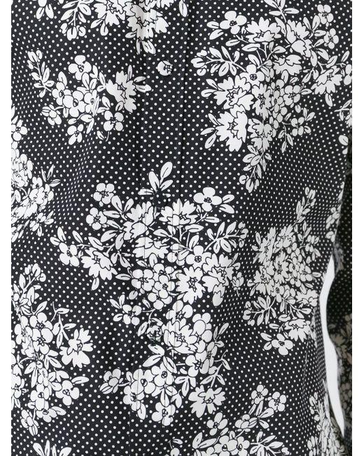 Рубашка С Цветочным Принтом Dolce & Gabbana                                                                                                              чёрный цвет