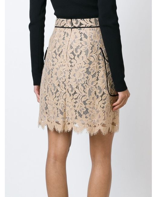 Lace Piped Skirt MSGM                                                                                                              Nude & Neutrals цвет