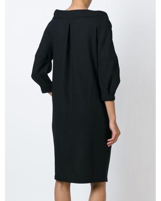 Драпированное Платье Sybilla                                                                                                              чёрный цвет