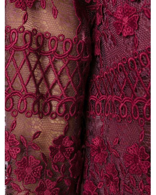 Кружевное Платье С Длинными Рукавами GIAMBA                                                                                                              красный цвет