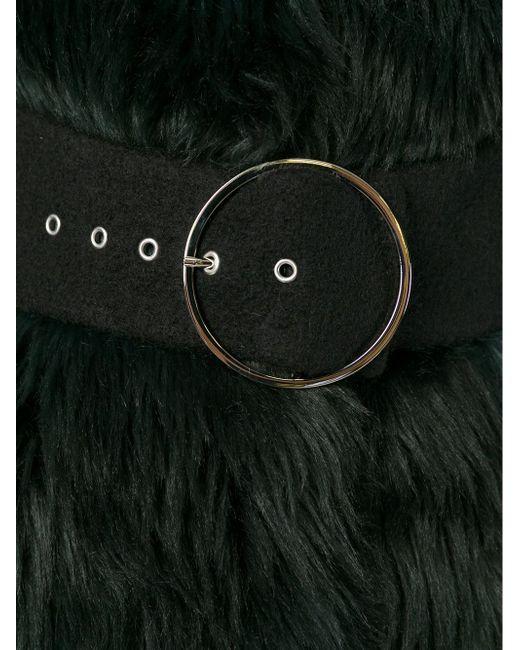 Пальто Из Искусственного Меха GIAMBA                                                                                                              чёрный цвет