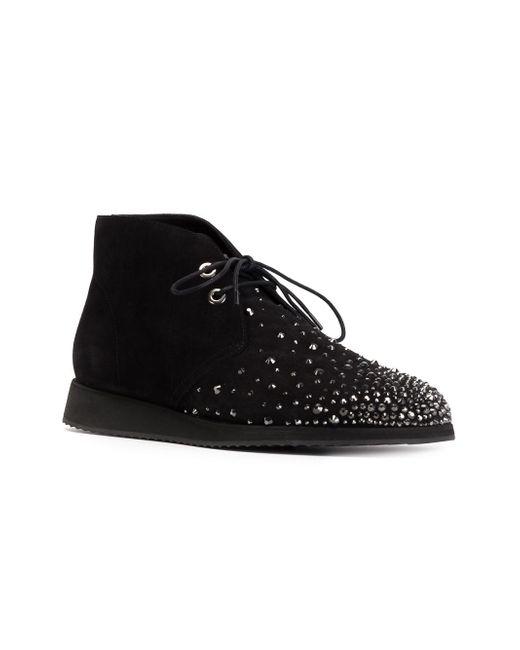 Декорированные Ботинки-Дезерты Giuseppe Zanotti Design                                                                                                              чёрный цвет