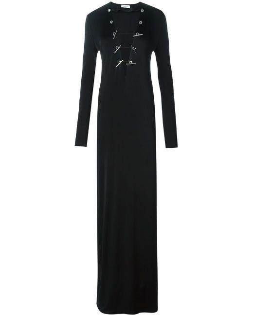 Облегающее Платье C V-Образным Вырезом Mugler                                                                                                              чёрный цвет