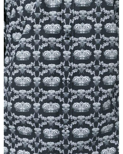 Рубашка С Принтом Crown Bee Dolce & Gabbana                                                                                                              чёрный цвет