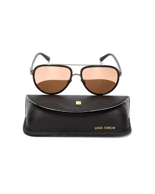 165 Sunglasses Linda Farrow                                                                                                              чёрный цвет