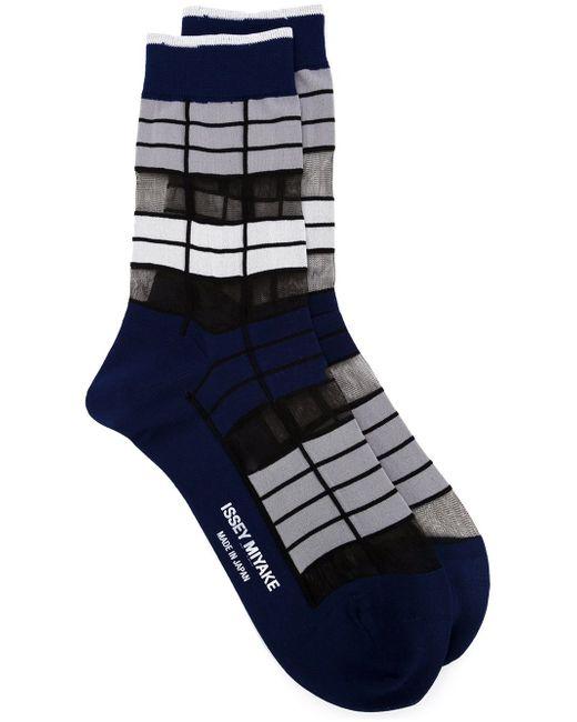 Striped Socks Issey Miyake                                                                                                              синий цвет