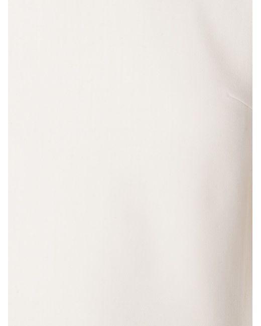 Asymmetric Back Slit Top Adam Lippes                                                                                                              белый цвет