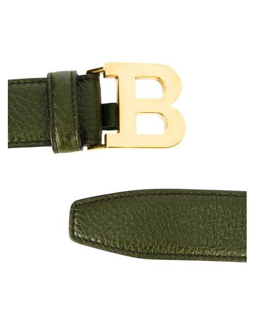 Logo Buckle Belt Bally                                                                                                              зелёный цвет