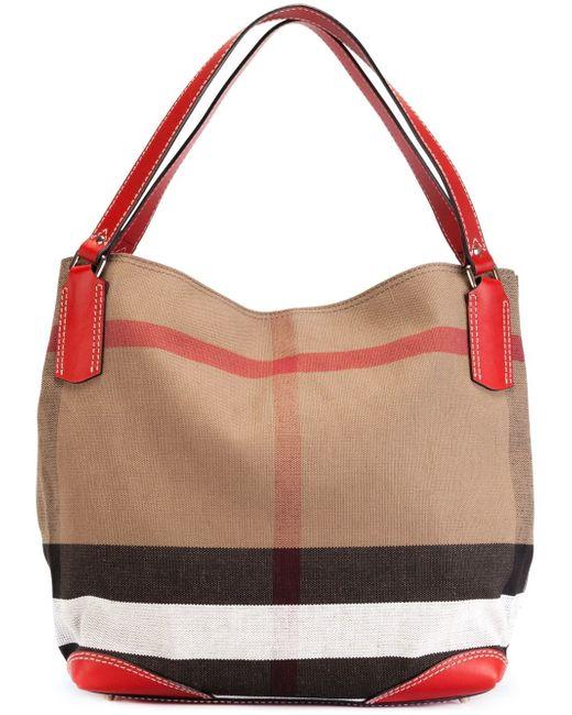 Nova Check Print Tote Bag Burberry                                                                                                              коричневый цвет