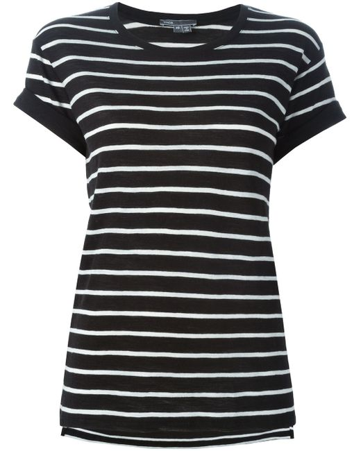 Striped T-Shirt Vince                                                                                                              чёрный цвет