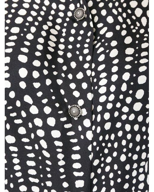 Рубашка С Пятнистым Принтом Fausto Puglisi                                                                                                              чёрный цвет