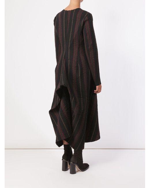 Striped A-Line Dress UMA WANG                                                                                                              чёрный цвет