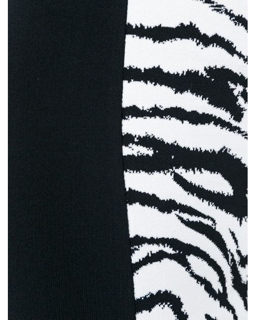 Tiger Intarsia Knit Fitted Dress Fausto Puglisi                                                                                                              белый цвет