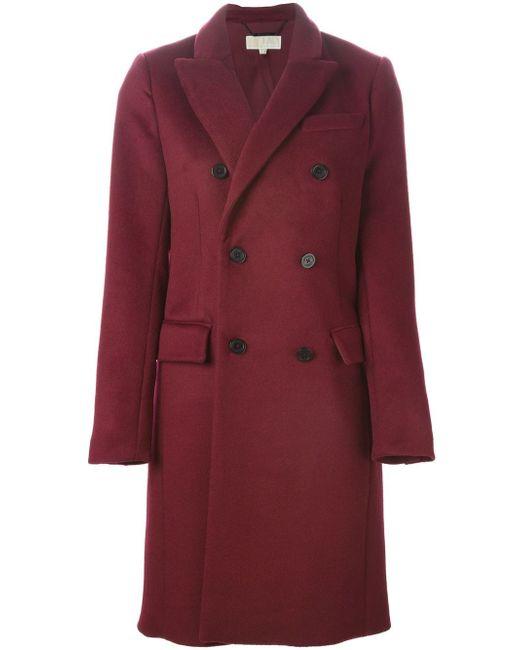 Двубортное Пальто Michael Michael Kors                                                                                                              красный цвет