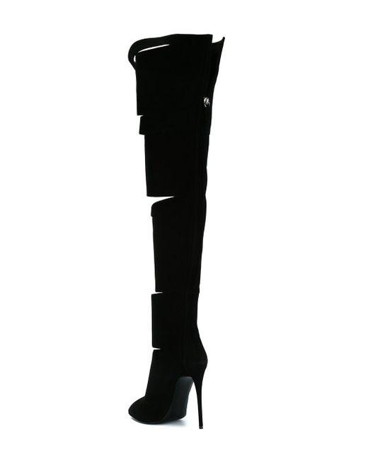 Ботфорты С Вырезными Деталями Giuseppe Zanotti Design                                                                                                              чёрный цвет