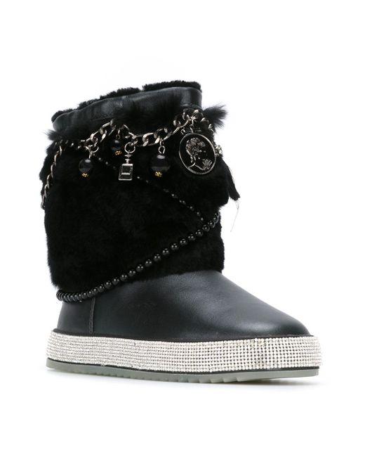 Ботинки С Отделкой Мехом GIANNI RENZI                                                                                                              чёрный цвет