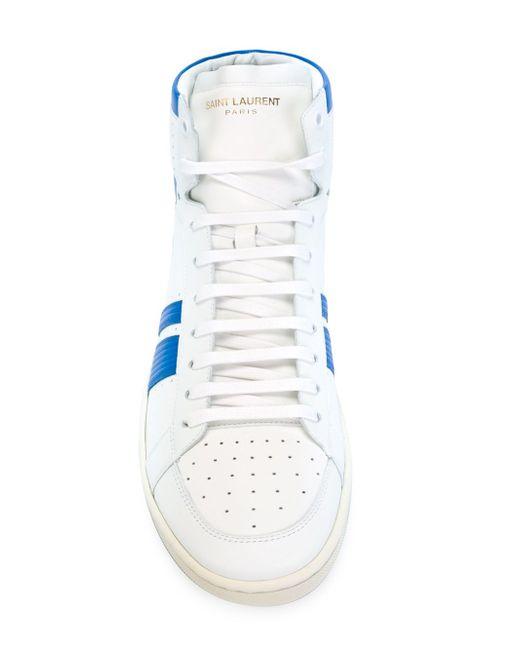 Хайтопы Court Classic Saint Laurent                                                                                                              белый цвет