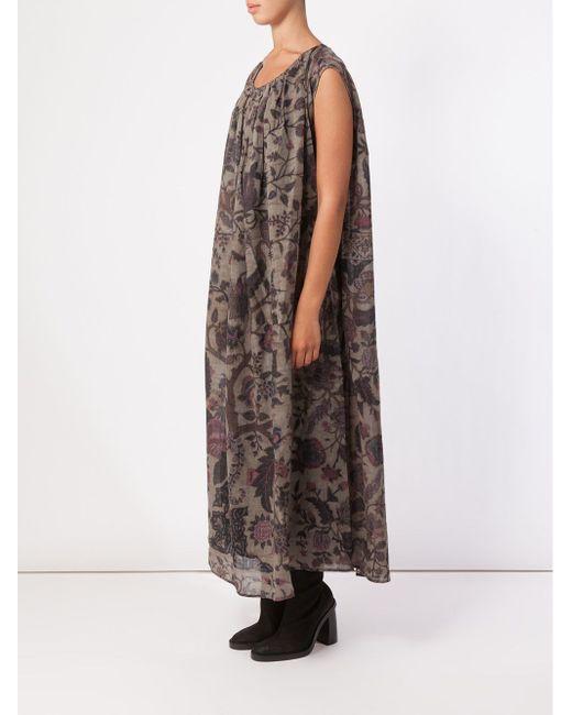 Foliage Print Shift Dress UMA WANG                                                                                                              зелёный цвет