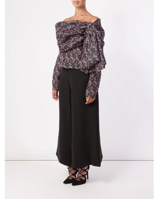 Drop Shoulder Blouse Rosie Assoulin                                                                                                              чёрный цвет