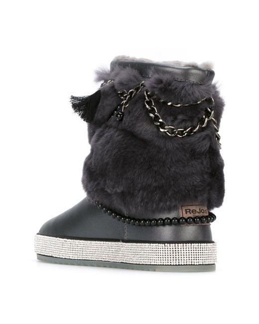 Ботинки С Меховой Отделкой GIANNI RENZI                                                                                                              серый цвет