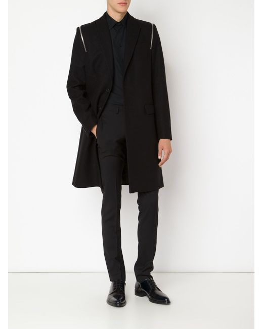 Zip Detail Overcoat Givenchy                                                                                                              чёрный цвет