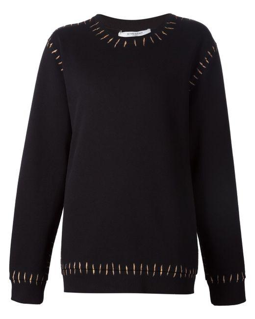 Толстовка С Принтом Швов Givenchy                                                                                                              чёрный цвет