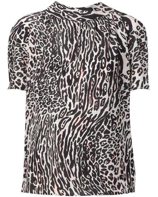 Leopard Print Blouse Altuzarra                                                                                                              чёрный цвет