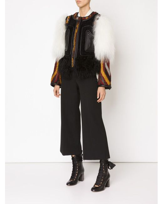 Contrasted Panel Jacket Chloe                                                                                                              чёрный цвет