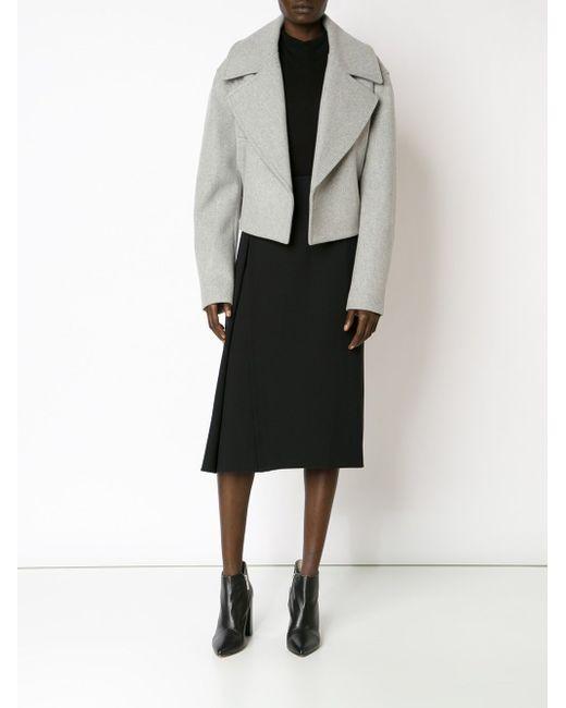 Cropped Notched Collar Jacket Jason Wu                                                                                                              серый цвет