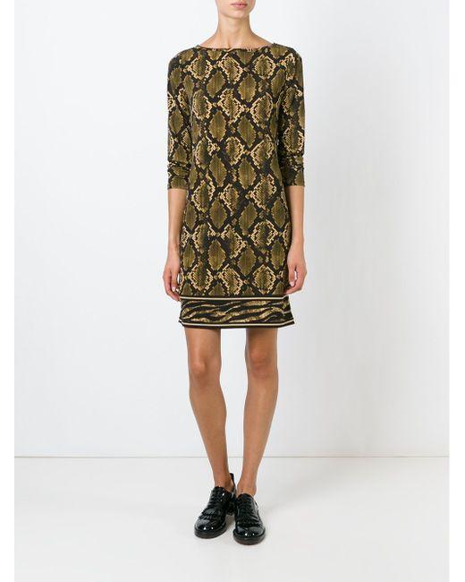 Snake Skin Print T-Shirt Dress Michael Michael Kors                                                                                                              None цвет