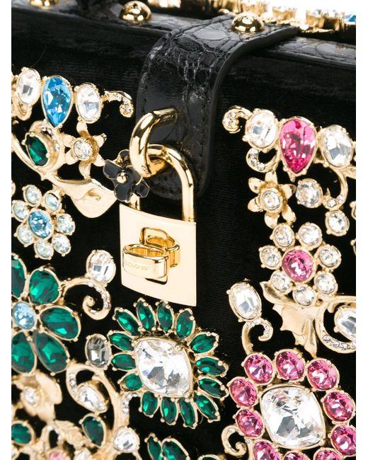 Embellished Cross-Body Bag Dolce & Gabbana                                                                                                              чёрный цвет