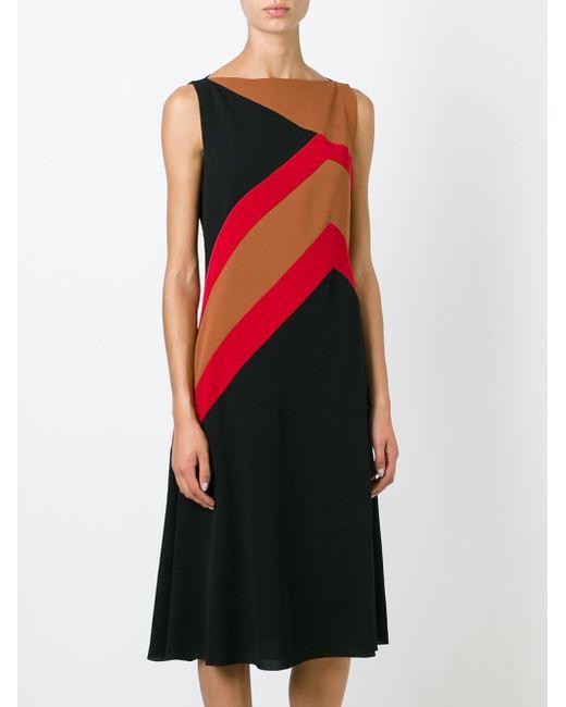 Платье С Геометрическим Принтом Salvatore Ferragamo                                                                                                              чёрный цвет