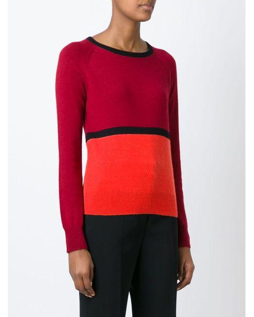 Свитер В Стиле Колор-Блок Etro                                                                                                              красный цвет