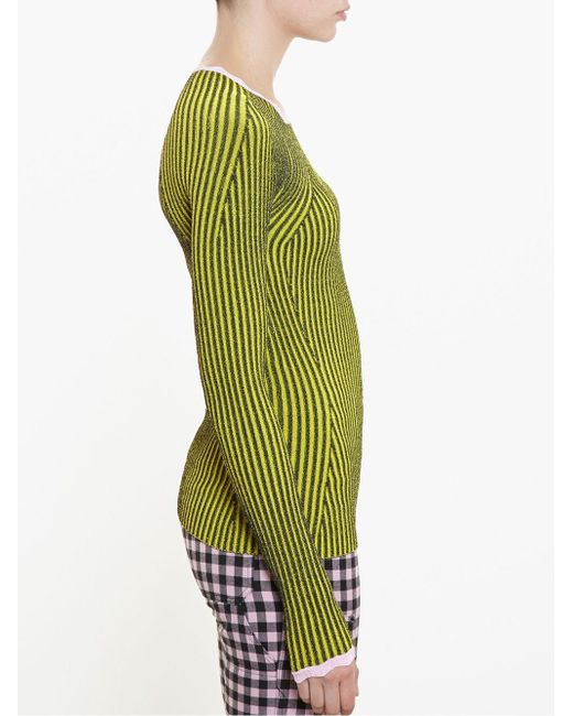 Striped Knit ADAM SELMAN                                                                                                              чёрный цвет