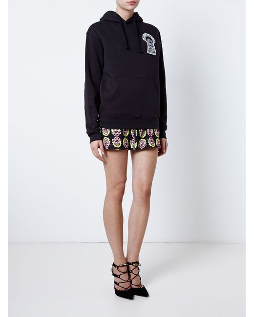 Printed Mini Skirt ASHLEY WILLIAMS                                                                                                              чёрный цвет