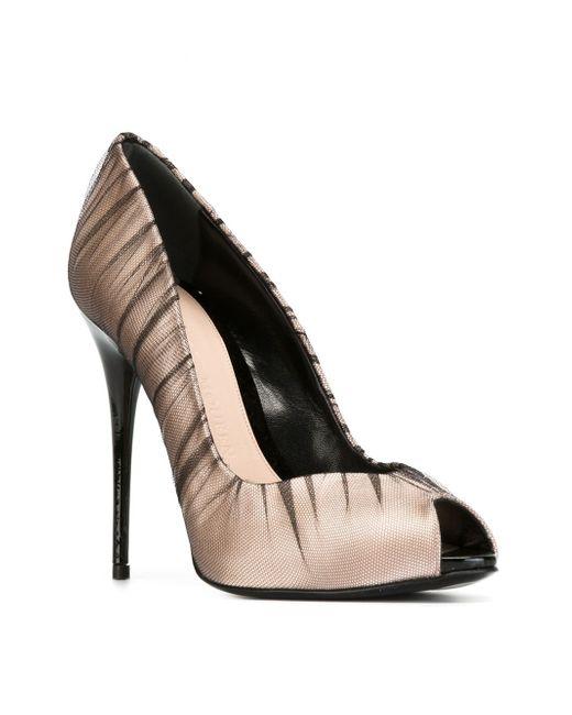 Туфли С Открытым Мыском Alexander McQueen                                                                                                              Nude & Neutrals цвет