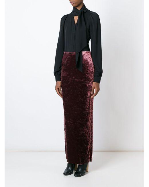 Velvet Maxi Skirt Haider Ackermann                                                                                                              красный цвет