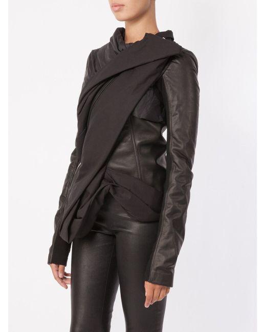 Draped Jacket Rick Owens                                                                                                              чёрный цвет