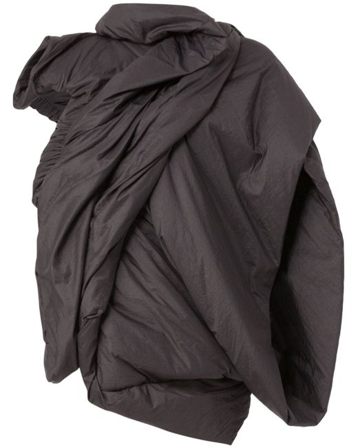 Padded Draped Jacket Rick Owens                                                                                                              чёрный цвет
