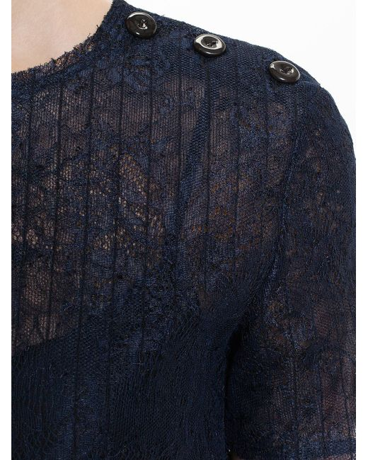 Lace Overlay Dress Nina Ricci                                                                                                              синий цвет