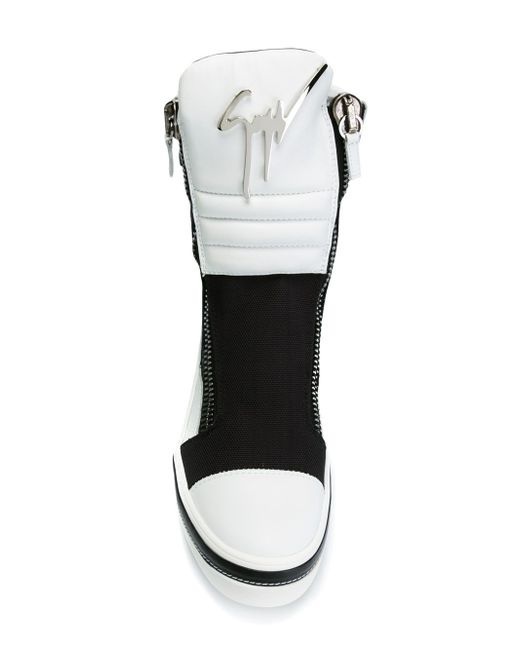 Colour Block Hi-Top Sneakers Giuseppe Zanotti Design                                                                                                              чёрный цвет