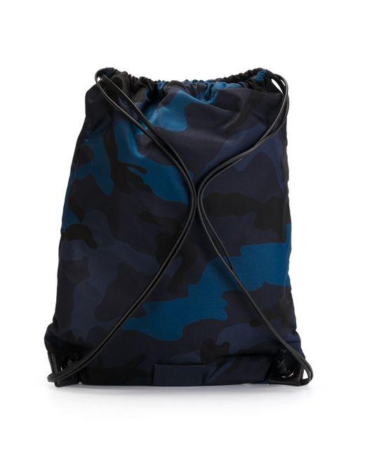 Камуфляжный Рюкзак На Шнурке Valentino Garavani                                                                                                              синий цвет