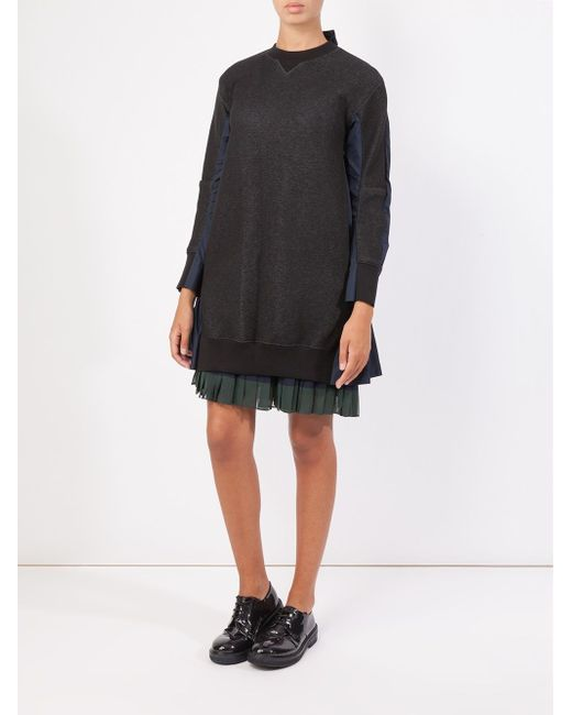 Shirt Back Sweatshirt Sacai                                                                                                              чёрный цвет