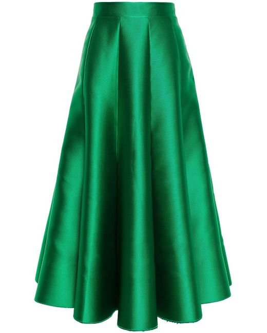 Satin Midi Skirt Natasha Zinko                                                                                                              зелёный цвет