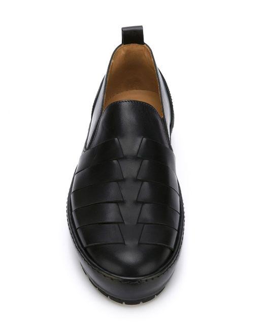Кеды-Слипон С Плетеным Дизайном Emporio Armani                                                                                                              чёрный цвет