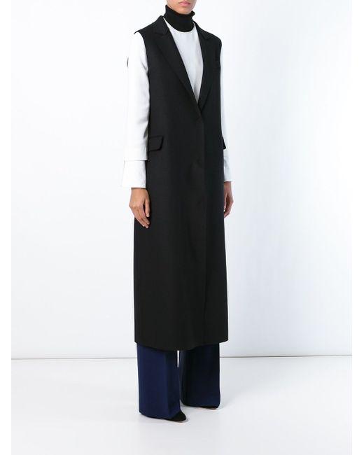 Long Sleeveless Coat MSGM                                                                                                              чёрный цвет