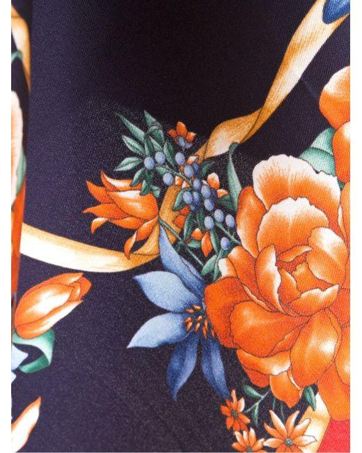 Нагрудный Платок С Цветочным Принтом Kiton                                                                                                              красный цвет