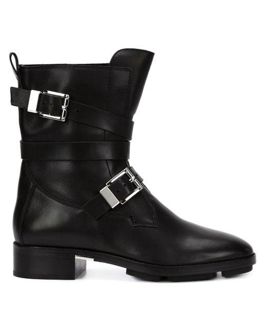 Байкерские Ботинки С Пряжками Alexander Wang                                                                                                              чёрный цвет