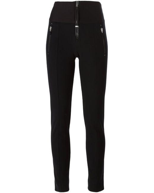 Zip Detail Skinny Trousers High                                                                                                              чёрный цвет